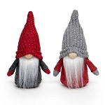 RED/GREY GNOME WITH KNIT HAT, WOOD NOSE, WHITE BEARD & ARMS 2 ASSORTED STYLES - PRICE PER INDIVIDUAL PIECE 3