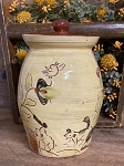 Redware Canister Sgraffito 8