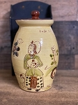 Redware Canister Sgraffito 9.5