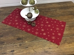 RED SNOWFLAKE SHORT TABLE RUNNER 14