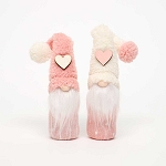 HEART and POM-POM GNOME PINK/CREAM SMALL 1.5