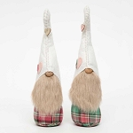 HEART HOOK HAT GNOME with WOOD NOSE 2 Assorted PI/GR PLAID LARGE 4