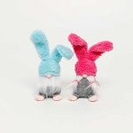 BUNNY THUMPER GNOME with FEET 2 Assorted PINK/BLUE LARGE 3.5