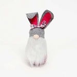 COTTONTAIL PINK PLAID/GREY BUNNY GNOME LARGE 3.5
