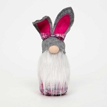 COTTONTAIL PINK PLAID/GREY BUNNY GNOME SMALL 2.75