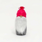 GNOME with PINK TIED HAT and WOOD NOSE LARGE 4.5
