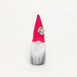 MINI MCGNOME with PINK HAT and FLOWER SMALL 1.5