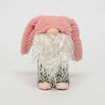 HOBBIT BUNNY with Pink FLOPPY KNOT EARS and CHEVRON BODY SMALL 2.5