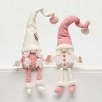 HEARTFELT GIRLY GNOME with PIGTAILS and FLOPPY LEGS 2 Assorted Pink/Cream LARGE 3