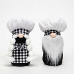 CHEF and CHEFETTE GNOME 2 Assorted BOY/GIRL LARGE 5