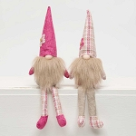 POSEY PATCH GNOME With FLOPPY LEGS 2 Assorted PINK/PLAID 2.5