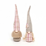 TAN/PLAID POSEY PATCH GNOME 2 Assorted BOY/GIRL 2