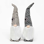 URBAN GREY/CREAM GNOME with FLOWER 2 Assorted STRIPE/DOT 3.25