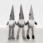 URBAN GREY/CREAM GNOME with FLOWER and FLOPPY LEGS 3 Assorted STRIPE/DOT/SOLID SM 2