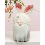 HEARTFELT BUNNY GNOME WITH FUZZY BUNNY EARS HAT, HEART NOSE, WHITE BEARD AND BUNNY TAIL 3.5