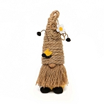 HUMBLE GNOME WITH JUTE BEE SKEP HAT, ANTENNA, WOOD NOSE AND JUTE BEARD SMALL 3