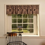 THE WESTBURY BLACK/TAN VALANCE 72