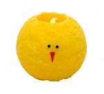 Large Round Chick LED Candle - 5.25 in diameter x 4.5 in tall