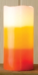 Candy Corn Pillar 6 in.ch with Timer - 3 in. x 6 in.