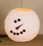 Small Round Snowman LED Candle - 4 x 3.8 in Timer