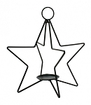 Large Star Candle Holder - 15.5 x 15.5 x 17 in