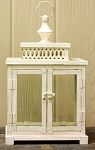 Fancy Cream Rectangular Lantern with Double Doors - 8x5.15x13.5