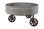 Galvanized Tricycle Tray - Tray: 12 in diameter