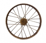 Antique Small Bike Wheel - 10 in diameter x 2.5 in thick