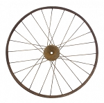 Antique Large Bike Wheel - 18.25 in diameter x 2.5 in thick