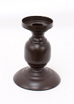 Small Brown Taper Holder - 4 x 5.25 in Candle