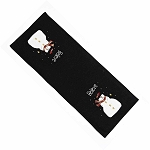 Snowy Nights Table Runner Black
