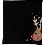 Reindeer Table Runner Black