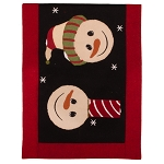 Snowfriends Table Runner Black-Barn Red