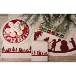 Snowman Silhouette Osenburg Table Runner