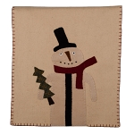 Primitive Snowman Table Runner Nutmeg