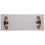Pilgrim Pumpkin Black-White Ticking Table Runner