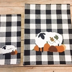 Pumpkin Patch Black-White Buffalo Check Table Runner
