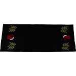 Father Christmas Black Table Runner