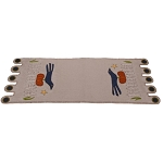 Sitting On A Fence Table Runner Gray