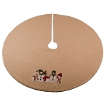 Family Of 5 Tree Skirt Nutmeg