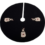 A Gift Tree Skirt Black