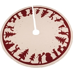 Snowman Silhouette Osenburg Tree Skirt