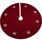 Snowflake Barn Red Tree Skirt