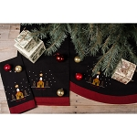 Silent Night Black Tree Skirt