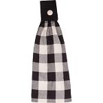 Buffalo Check Black-Buttermilk Tab Towel