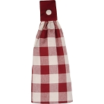 Buffalo Check Barn Red-Buttermilk Tab Towel
