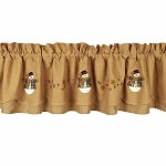String Of Stars Snowman Fairfield Valance
