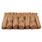 My Christmas Tree Fairfield Valance Nutmeg-Barn Red