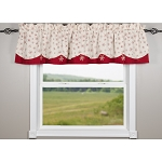 Snowflakes White-Red Fairfield Valance