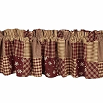 Patchwork Christmas Valance
